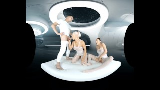First VR porn in space sequel in a female POV with Steve and Blanche