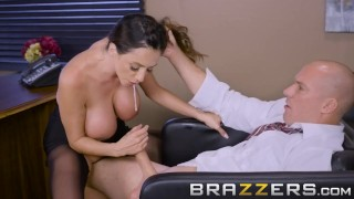 Busty Brunette CEO Wants To Suck A Big Cock Brazzers