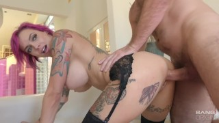 BANG Gonzo: Anna Bell Peeks Squirts All Over In Raw Fuck Session