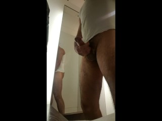Jerking off at changing room H&M
