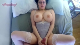 Tits busty getting while showing off babe her fucked huge stockings 60fps