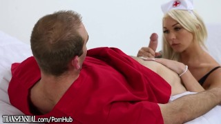 TransSensual TS Nurse Aubrey Kate Barebacked Tits stepmom