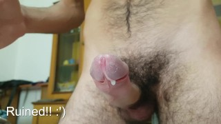 Edge session self tease and ruined orgasms Can't hold cum!