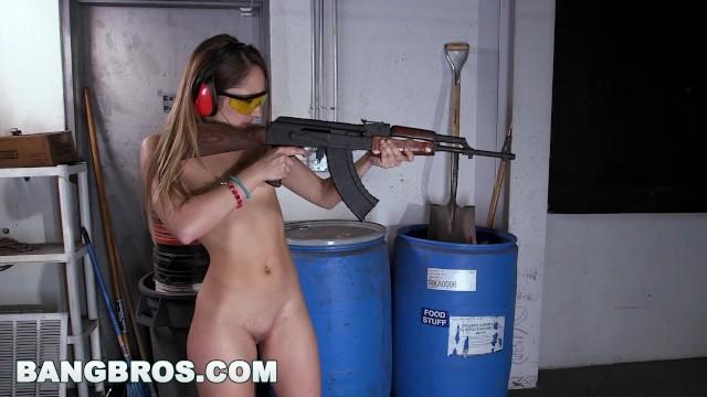 Vintage war rifles Bangbros - dirty blonde pawg remy lacroix shoots guns and sucks dick