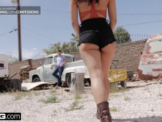 BANG Confessions - Gina Valentina Gets Used at the Junkyard