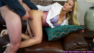 Two pump chump; EPIC MILF makes quick work of young punk...TWICE! Perky pussy