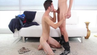 GayCastings Newbie Bryce Acton fucked by casting agent Couch of