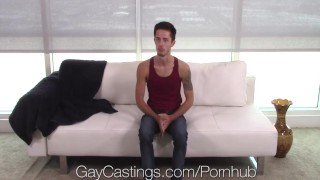 GayCastings Newbie Bryce Acton fucked by casting agent