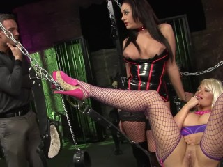 Dominatrix MILF EMMA BUTT Share Huge Cock With Blonde TIFFANY KINGSTON