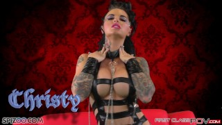 FirstClass POV - Big booty Christy Mack is fucked by a big dick, big boobs Mommyblowsbest gagging