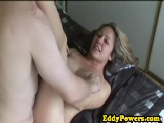 Amateur sucks oldman dick before analsex