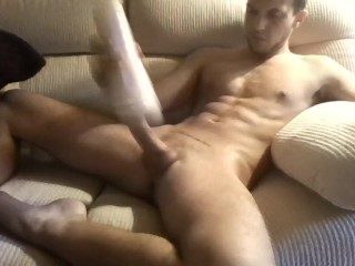 First video :)! masturbating and creampie my fleshlight!