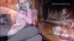 MILFS Fireplace cozy skype call recorded
