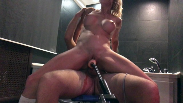 Fucked by machine and real cock