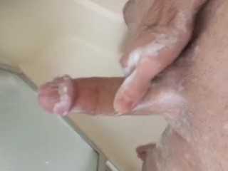 Soapy cock, hard masterbation,edging