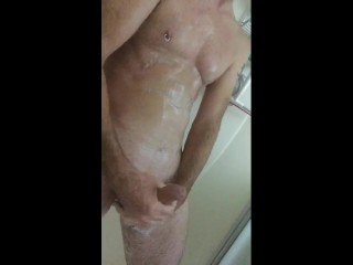 Soapy masturbating Orgasm cock Ring turned head masturbator