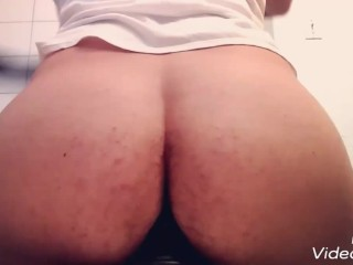 Horny Teen's Big Ass rides Toy