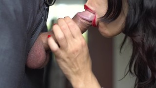 Skilled Blowjob By Beautiful Cocksucker - Veronika Charm Piss and