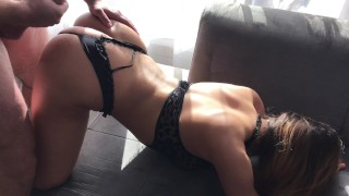 Drunk Young Sister wanna fun with brother in family room Cumshot butt