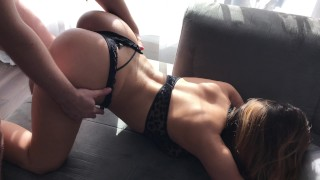 Drunk Young Sister wanna fun with brother in family room porno