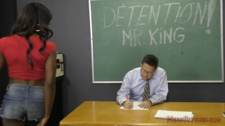 Preview 4 of Black Student Seduces Her Teacher Into Becoming Her Slave- Ana Foxxx Femdom
