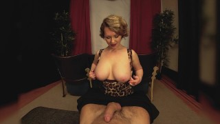 Preview 5 of Big Tits Milf Girlfriend Gives You A Handjob In The Theater