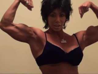Biceps Lovers Fetish Show by Latia Del Riviero. Smokin' Female Muscle