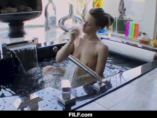 FILF -Step Mom Helps Me To Clean My Body