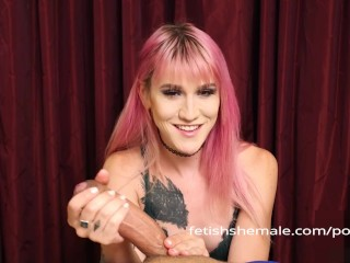 Shamel Lena Cell Shows How To Give A Wonderful Hand Job