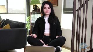 Porn Star Yhivi Watches Her Own Porn