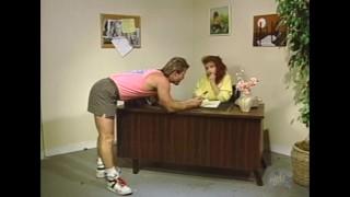Classic Porn: Teen redhead secretary takes a huge dick
