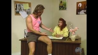 Takes dick a porn secretary classic teen redhead huge sucking pussy