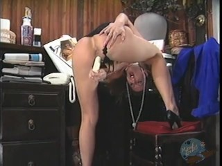 secretary caught masturbating on her break