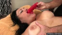 Fat Honey Calista Roxxx Gets a Massage and a Dildo Up Her Cunt