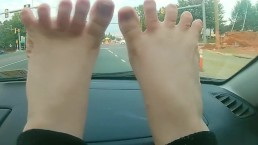 Stretching Out My Feet Wiggling My Toes in The Car -NO SEX- A Velvet Short