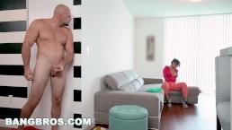 BANGBROS - Rose Monroe Is A Horny Latina Maid With Big Ass and Big Tits