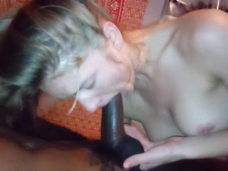 Pornstar Natasha Lyn sucks my BBC and swallows all the cum!