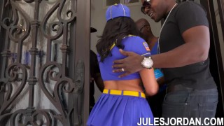 Jules Jordan - Keisha Grey Scouts For An Interracial Gang Bang Cock big