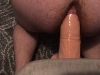 Fat Ass Takes 12in Massive Dildo Deep