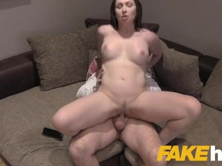 Fake Agent UK Big tits Aussie Yasmin Scott eats agents cumload in casting