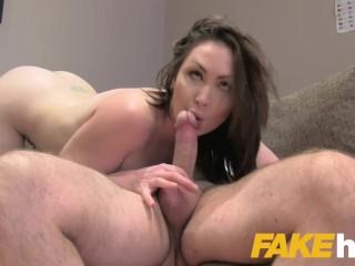 Fake Agent UK Big tits Aussie Yasmin Scott eats agents cumload in casting