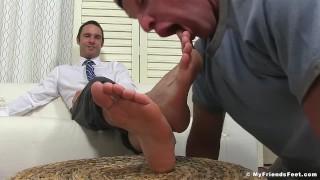 Dominant yuppie Cameron Kincade enjoys being foot worshipped porno