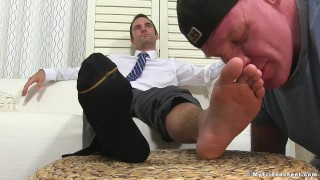 Kincade being dominant enjoys worshipped foot cameron yuppie fetish sucking