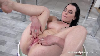 Wetandpissy - Vibrator play for piss drenched babe Quinn Lindermann Pussy fantasy