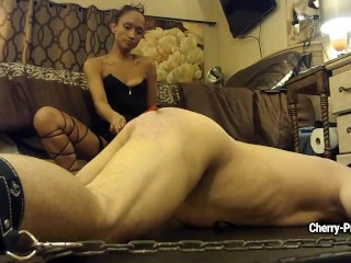 Sexy wife syndrome slim mistress hits her enchained slave man with black stick modelsxxx b