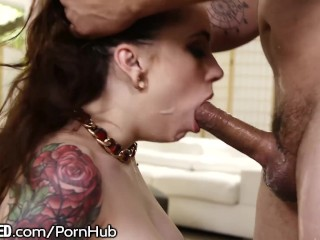 19yo Anna Deville Throating Facefuck!