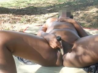 Risky Public Masturbation In The Park Naked