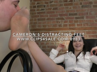 Cameron's Distracting Feet - DreamgirlsClips.com