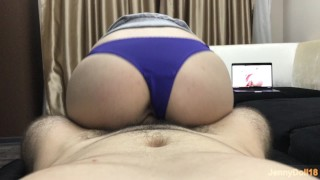 Preview 2 of Step Brother Fuck Me While I Watching Porn - He Cum Inside Me - Creampie