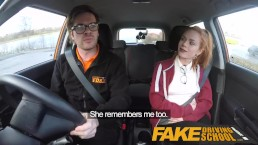 Fake Driving School Cute redhead Ella Hughes fucks and eats instructors cum